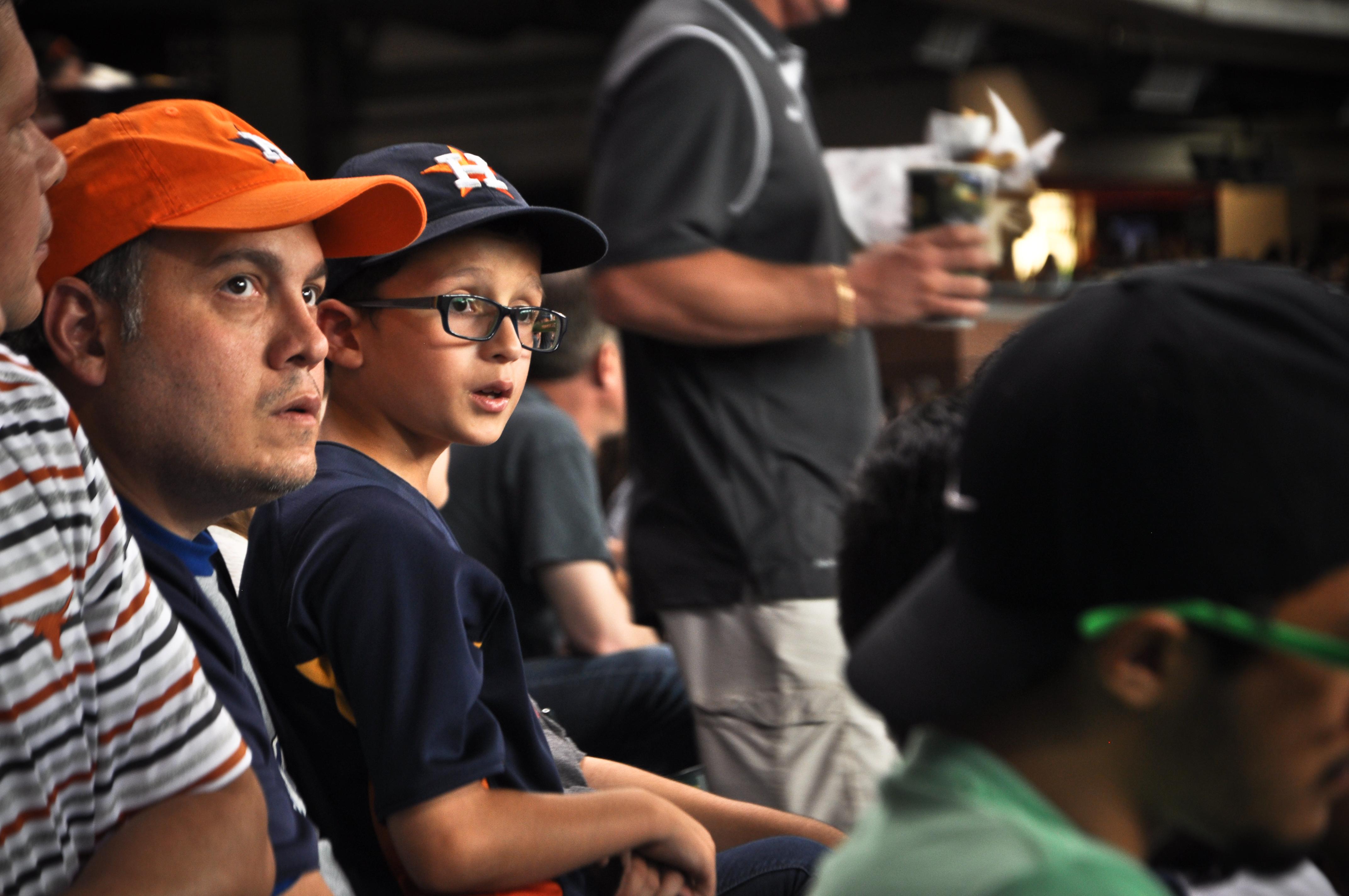 Texas Astros Fans in Crowd