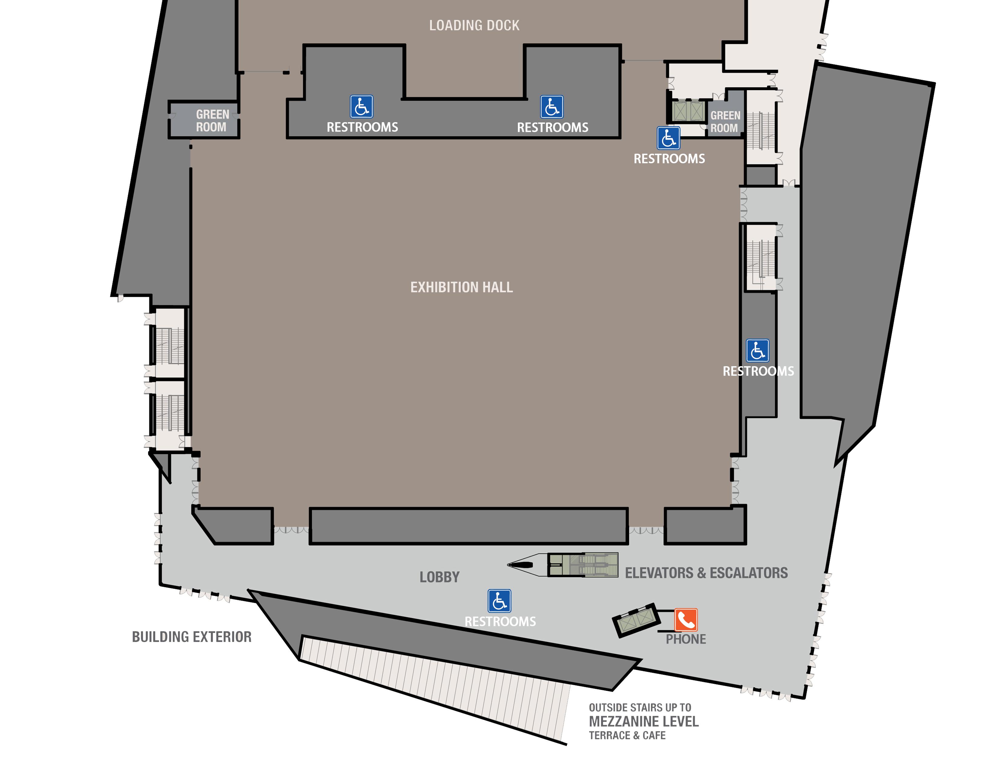 ADA - Exhibit Hall Floor Plan