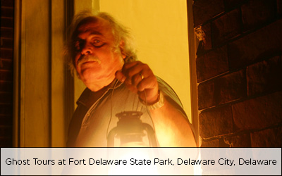 Ghost Tours at Fort Delaware State Park, Delaware City, Delaware
