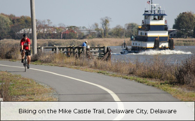 Mike Castle Bike Trail, Delaware City, Delaware