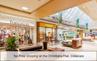 Tax Free Shopping at Christiana Mall, Delaware