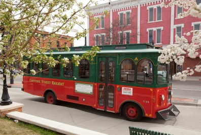 Trolley in spring