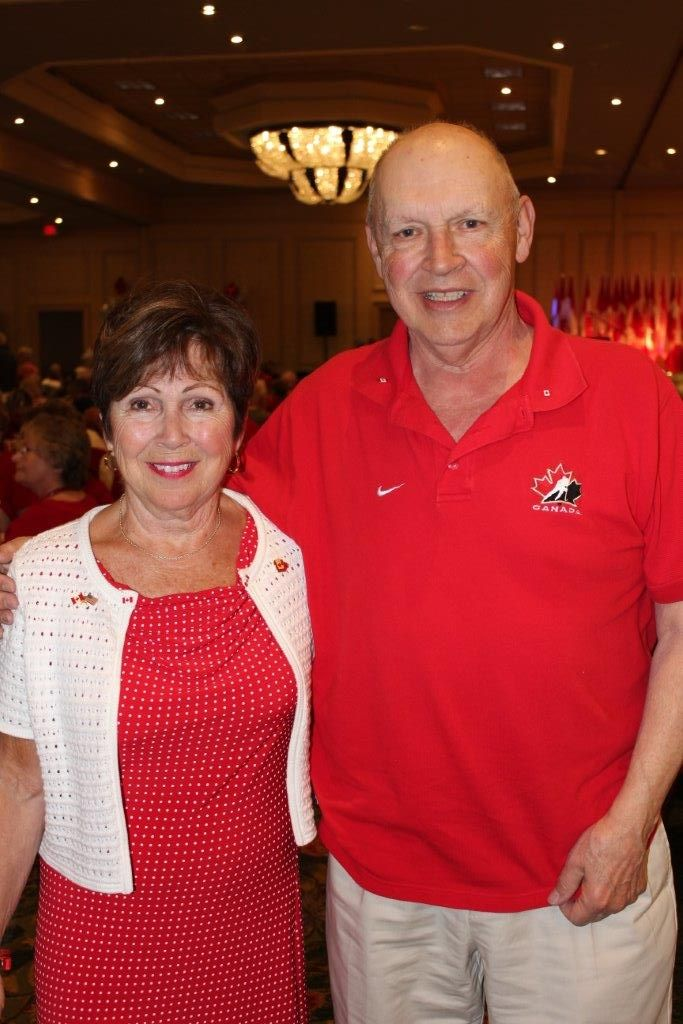 Joan O'Malley and her husband in Panama City Beach for the 2015 Canada Day celebration.