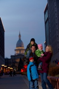 Lansing State Capitol Building Family Photo