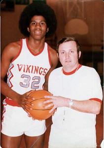 Everyone knows Magic, pictured here in his roots as an Everett Viking. Coach George Fox, pictured here, is in the Hall of Fame too!