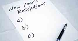 It's time for New Year's Resolutions, but you don't have any ideas - Do you?! Don't worry, you've got time.