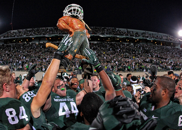 Last year the Spartans hoisted the Paul Bunyan Trophy, its time to do it once again.