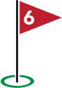 Golf Flag #6