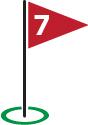 Golf Flag #7
