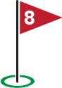 Golf Flag #8
