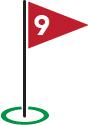 Golf Flag #9