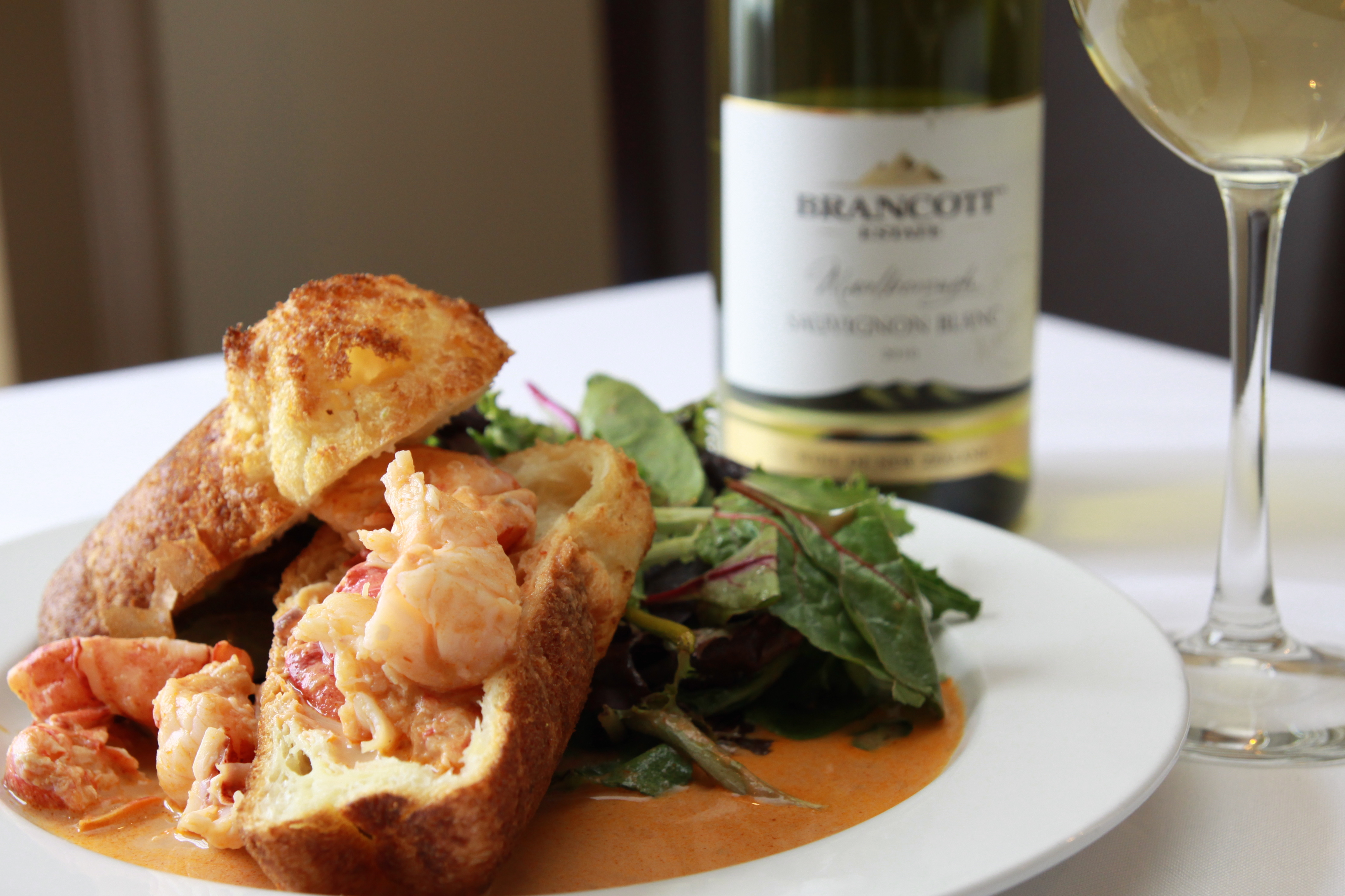 dewolf tavern lobster wine_credit Jennifer Balch