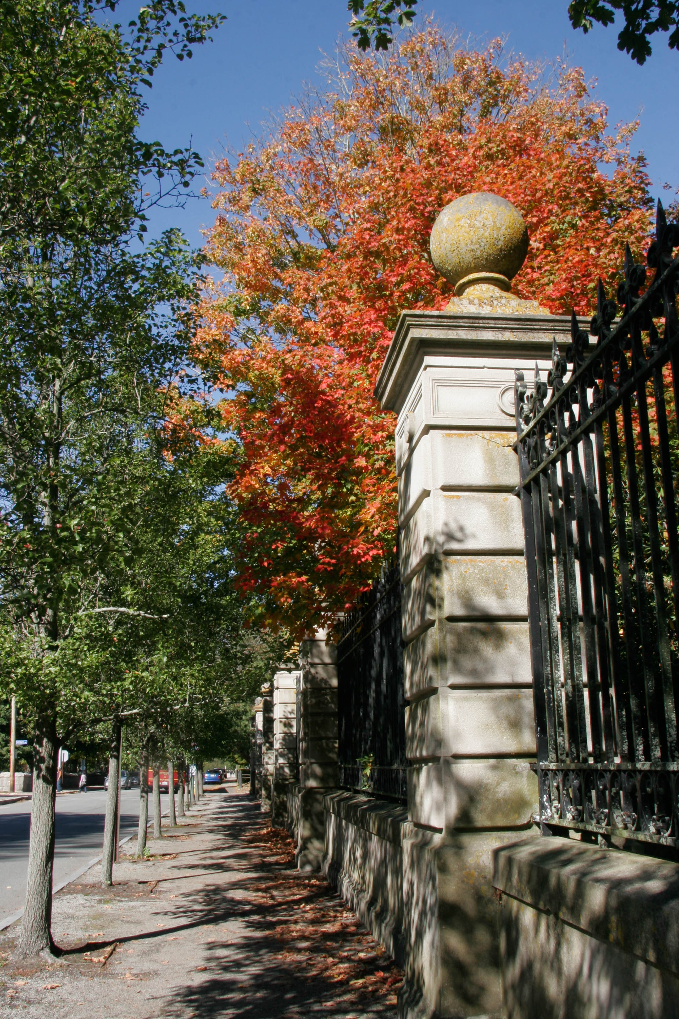 fall foliage breakers gates_credit Discover Newport