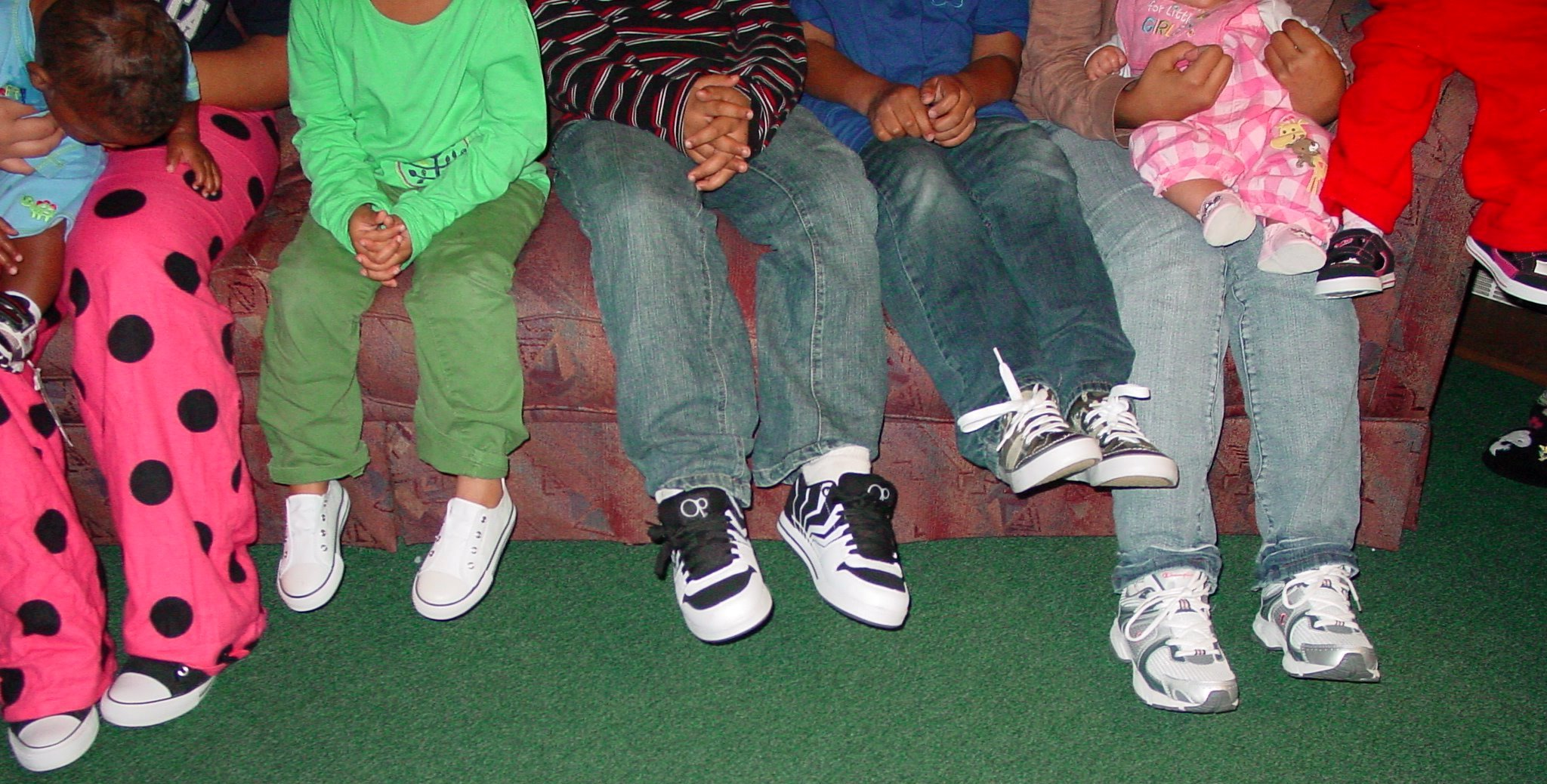 kids with shoes