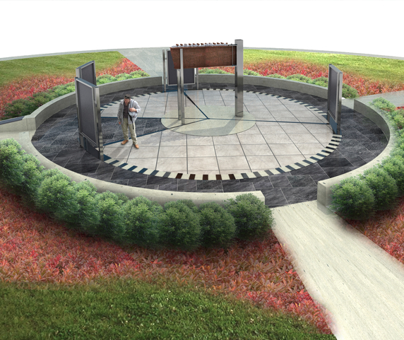 Rendering of the 9-11 Memorial at Williams Park in Brownsburg, Indiana
