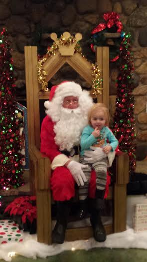 Santa at Winterland Light Show, Ellis Park- Danville