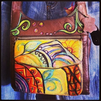 Hand-painted purse from Jane's on the Square in Danville, Indiana