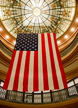 Hendricks County Courthouse rotunda, Danville, Indiana