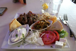 The Gyro Platter is delicious!