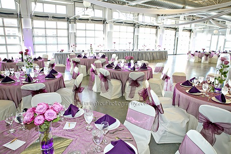 Wedding reception at Duke Energy Event Center in Plainfield, Indiana