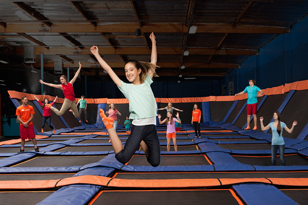 SkyZone in Plainfield allows people to literally bounce off the walls.
