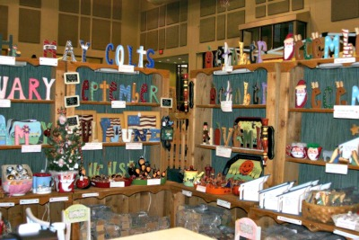 Handcrafted home decor for sale at Plainfield Tri Kappa Gingerbread Christmas in Plainfield, Indiana