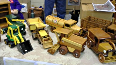 Charming handmade wooden toys can be found at Tri Kappa Gingerbread Christmas in Plainfield, Indiana