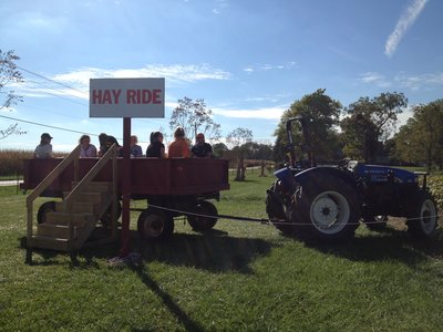 Hay ride at Hogan Farms in Brownsburg, Indiana