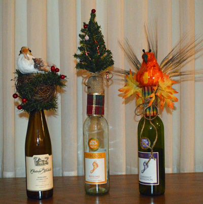 Wine toppers at  Fleurs de Beausoleil in Coatesville, Indiana