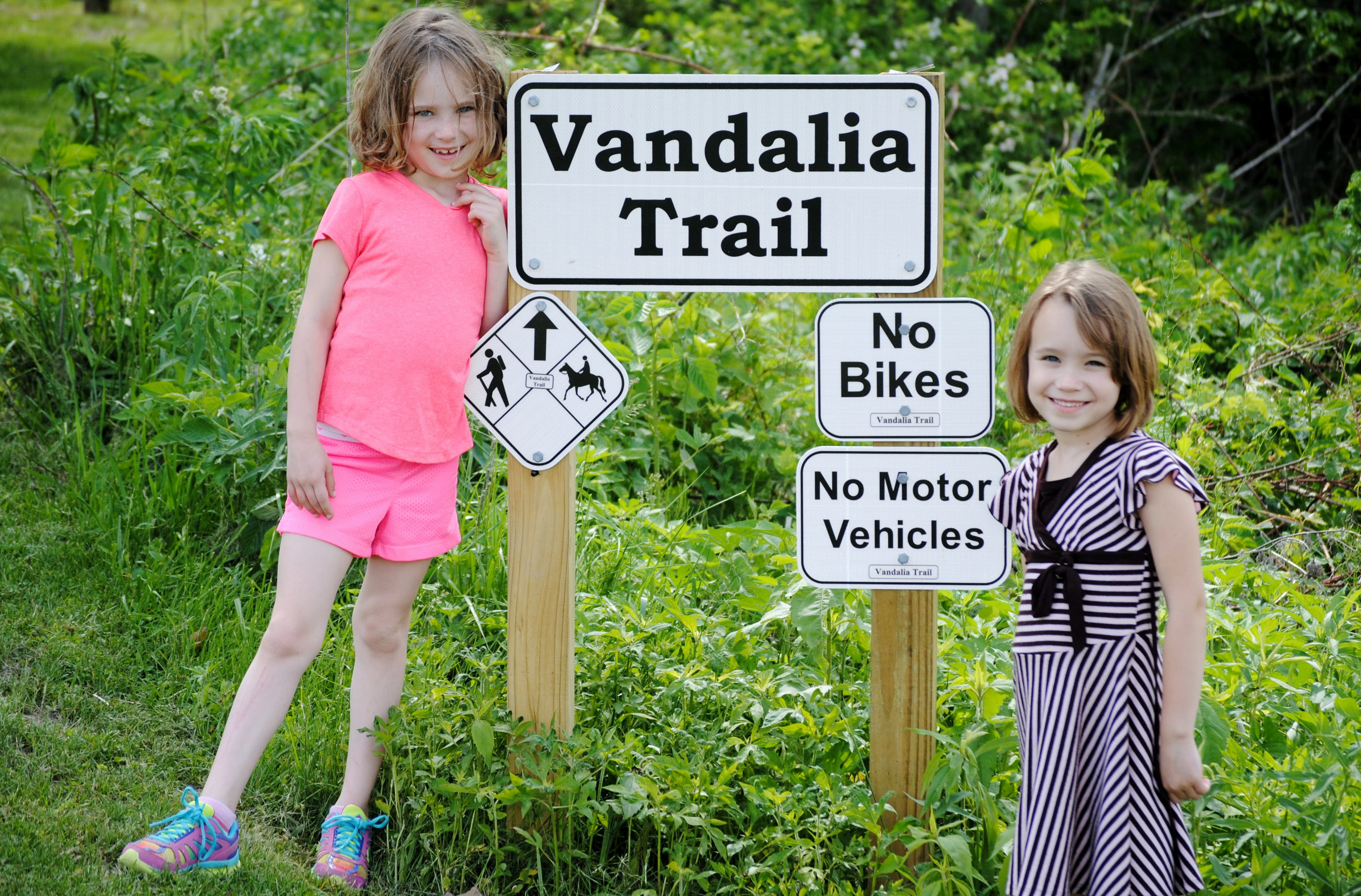 The Vandalia Trail running between Amo and Coatesville is great for hikers, equestrians and families.