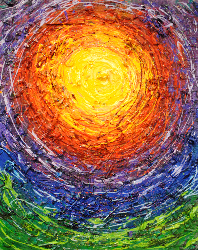 This painting entitled Full Circle 3 is a Melissa Cain original.