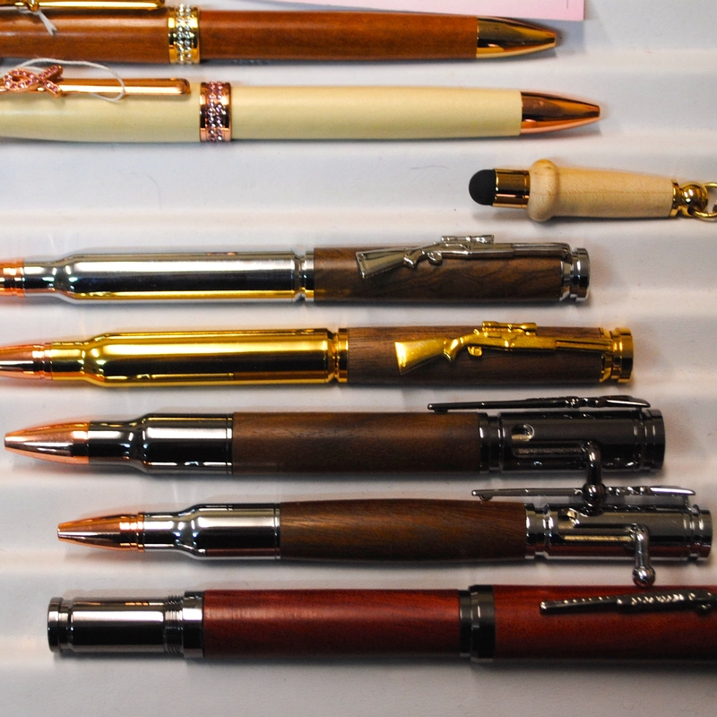 Hunters, military members or gun enthusiasts would love these handmade ink pens from Enchanted Journey in Coatesville, Indiana