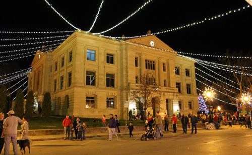 Christmas on the Square at the Hendricks County Courthouse Square in Danville, Indiana