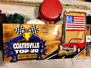 One-of-a-kind trophies are awarded in the Cruis'in in Coatesville Car Show