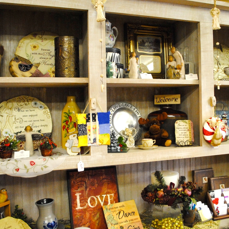 Sampling of the gifts available at Fleurs de Beausoleil in Coatesville, Indiana.