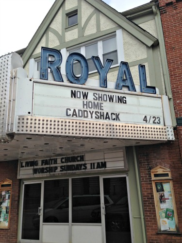 The Royal Theater in Danville, Indiana