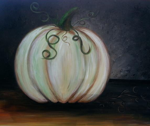 Elegant Pumpkin project at Gallery on the Square Paint & Sip in Danville, Indiana