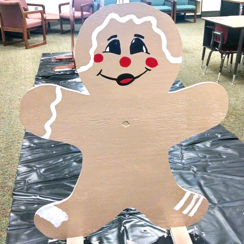 Karl the K-Kids Gingerbread Man can't wait for you to see him and his 55 friends as finished products during Christmas on the Square in Danville on Nov. 27!
