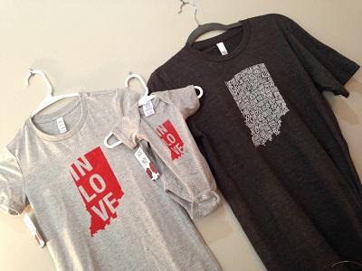 Indiana T-shirts in Hendricks County, Indiana