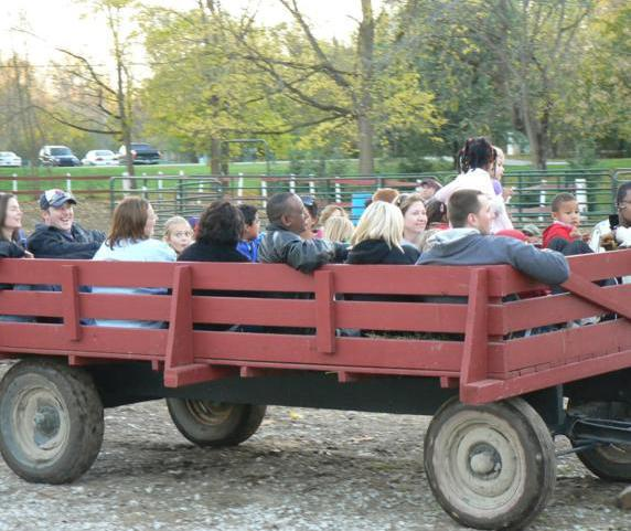Wagon ride at Natural Valley Ranch in Brownsburg, Indiana