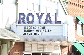 Royal Theater, movie theater, Danville, Indiana