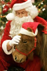 Santa will be with the ponies at Strides to Success in Plainfield on Dec. 12 and 13.
