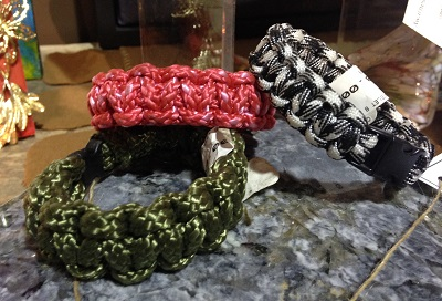Woven bracelets at Frazee Gardens in Brownsburg, Indiana
