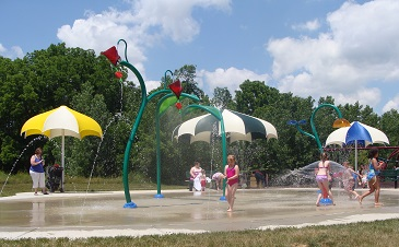 Washington Township Park Splash Pad, Avon, Indiana