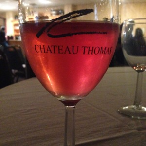 Chateau Thomas has a large selection of wines, including this delicious strawberry.