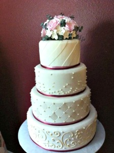 This lovely cake topper is a work of art!