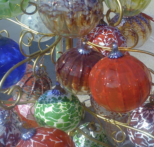 Lisa Pelo's Hot Blown Glass ornaments
