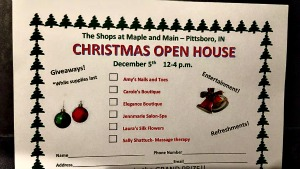 Pittsboro Christmas Open House Card