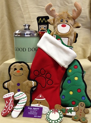 Pet stocking stuffers at Bone Appetit in Bronwsburg, Indiana