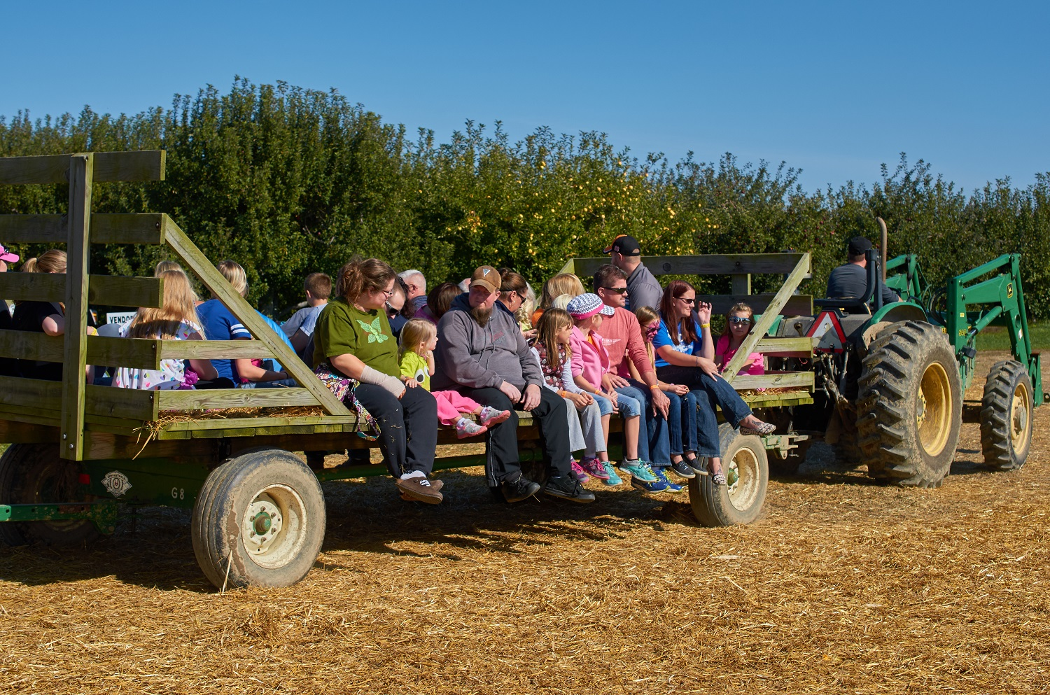 Hayride at Beasley's Orchard Heartland Apple Festival in Danville, Indiana